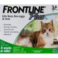 Frontline Plus (殺死成年跳蚤、蜱、跳蚤卵和幼蟲)(貓)